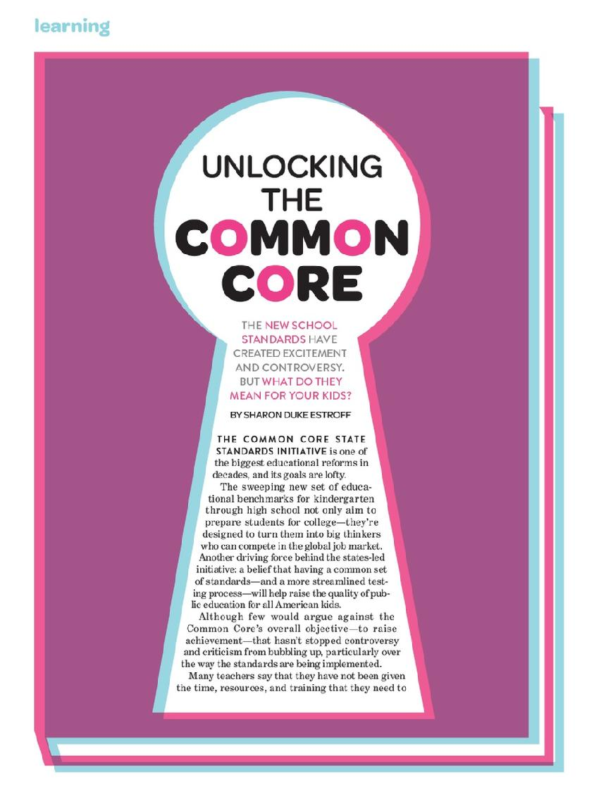 Unlocking the Common Core