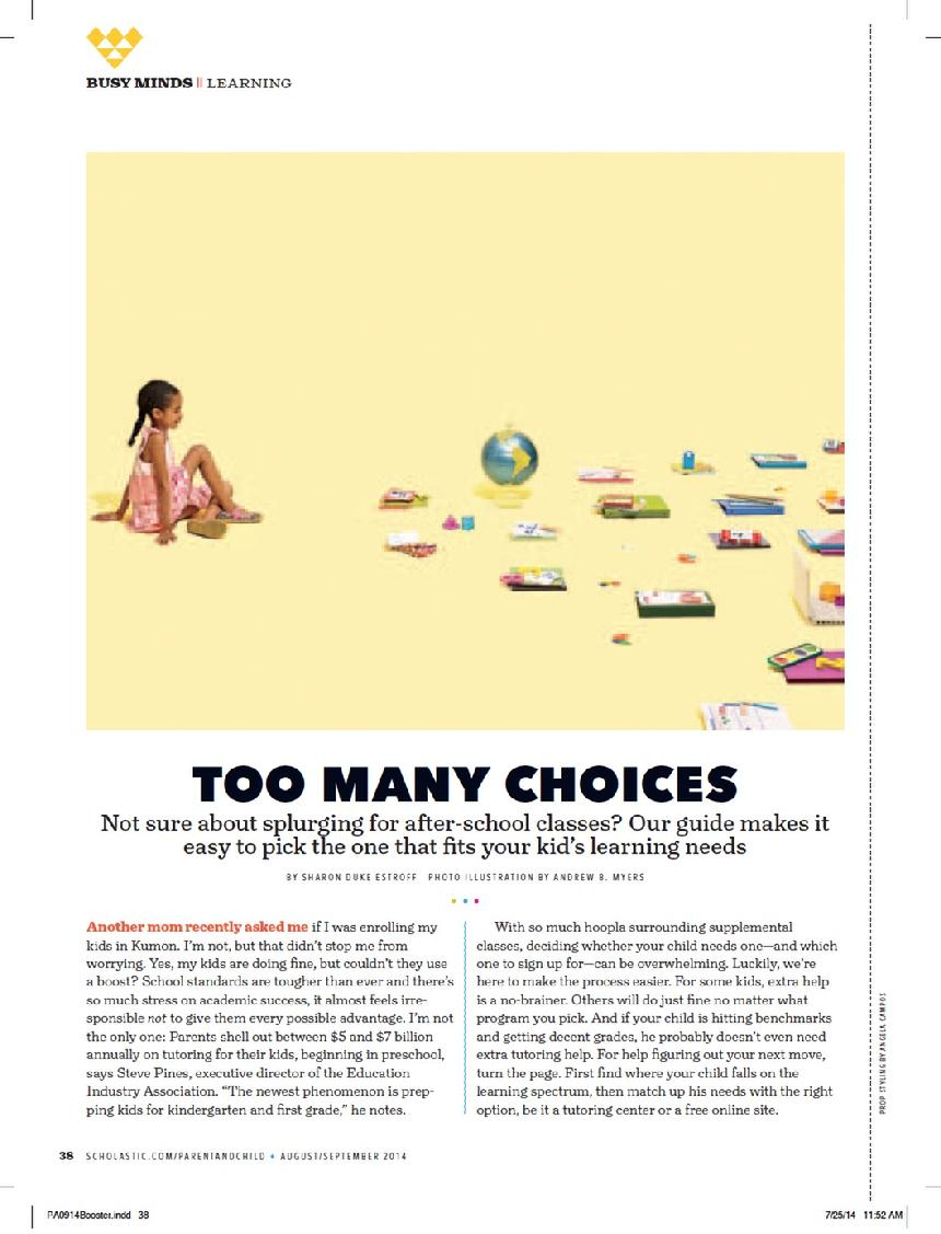 Too Many Choices Scholastic Parent & Child